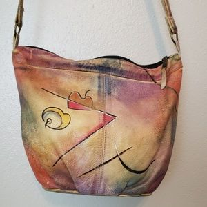 The Animal Wearable Art Crossbody Bag Handpainted